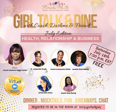 Girl Talk Dine - July 2020 Edition