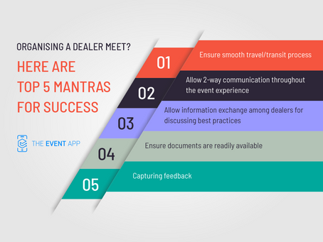 Organising a dealer meet? Here are top 5 mantras for success