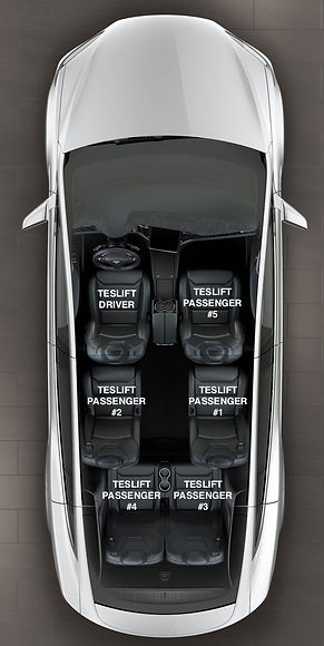 TESLIFT Model X Seats assignment