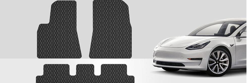 ToughPRO Tesla Model 3 floor Mats Set - All Weather