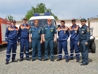 Сегодня на территории специализированной пожарно-спасательной части № 18 состоялся региональный поле