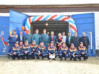 В поселке Улан-Хол открыли первый в Калмыкии пожарно-спасательный пост