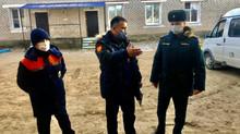 Проверка пожарно-спасательного поста в Годжуре