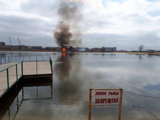 Водолазы Центра гражданской защиты оттачивали своё мастерство на Колонском пруду