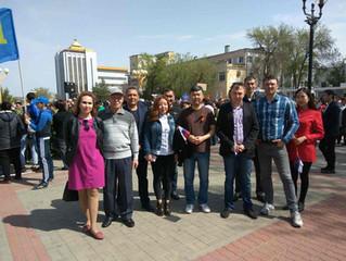 1 мая прошел митинг-шествие посвященный празднику Весны и Труда.