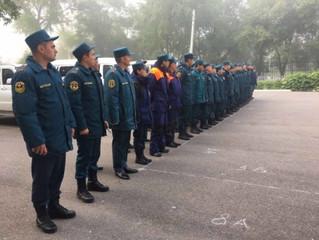 Спасатели Калмыкии оказывают помощь Ставрополью в ликвидации последствий сильного дождя