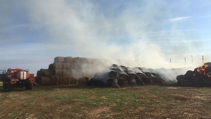 Пожар у поселка Овата