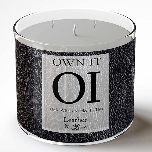 3 wick Candle - Leather & Lace