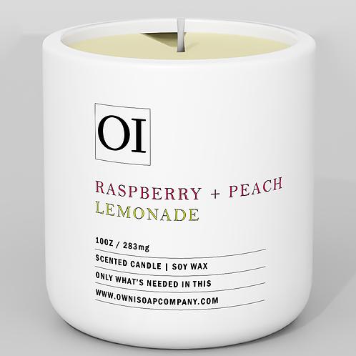 Raspberry + Peach Lemonade