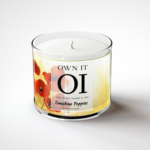 3 Wick Candle - Sunshine Poppies