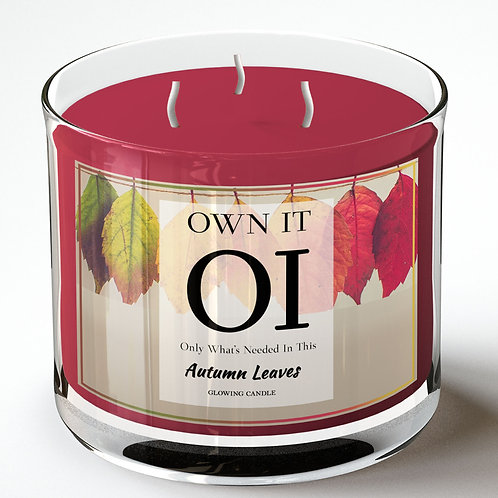 3 Wick Candle - Autumn Leaves