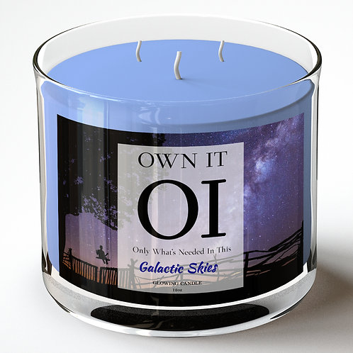 3 Wick Candle -Galactic Skies