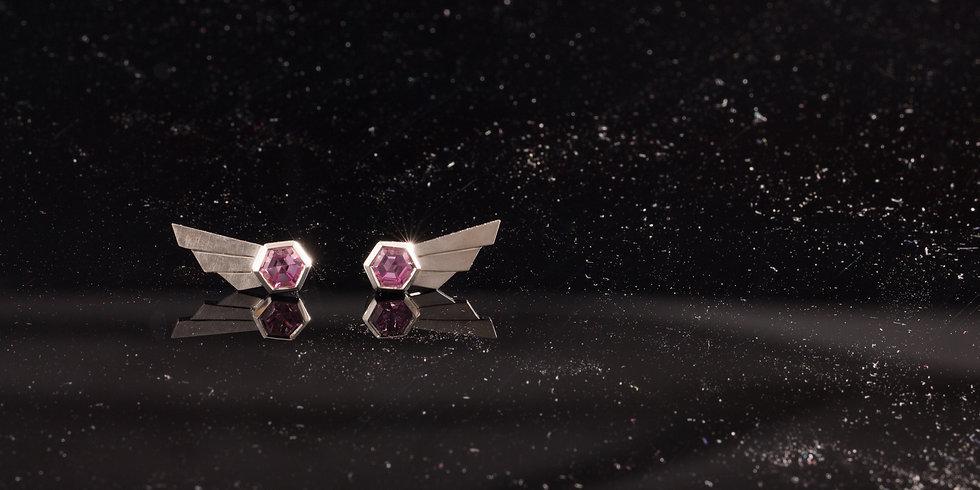 Comet Earrings - Pastel Pink
