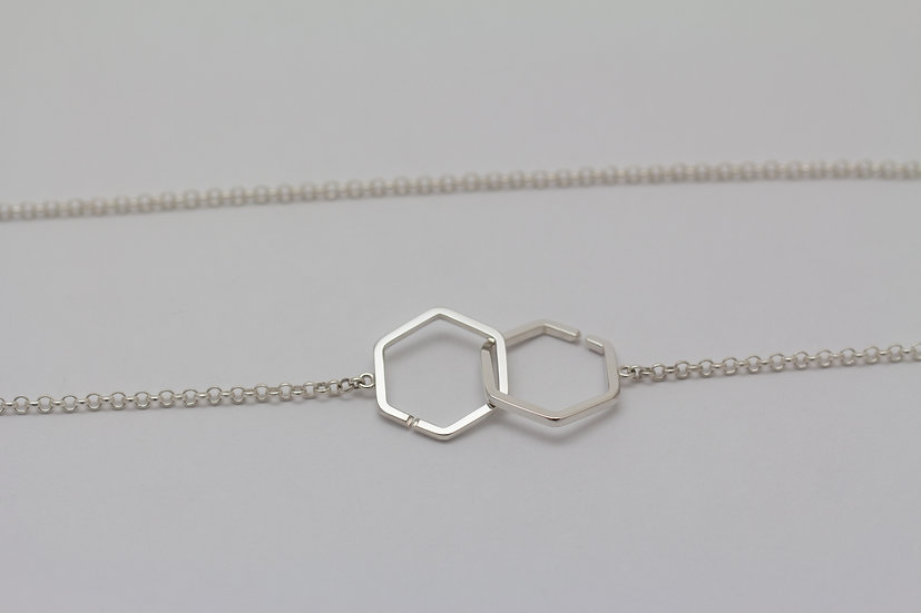 Hexagons in love - Silver