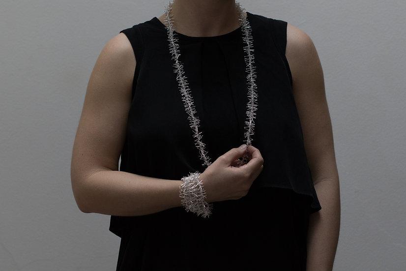 Tinsel necklace - 91cm - shiny