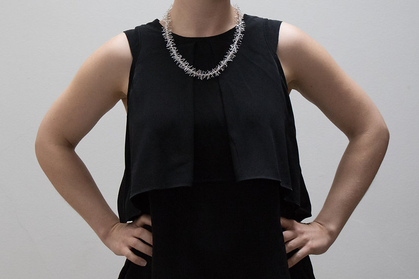Tinsel necklace - 54cm - shiny