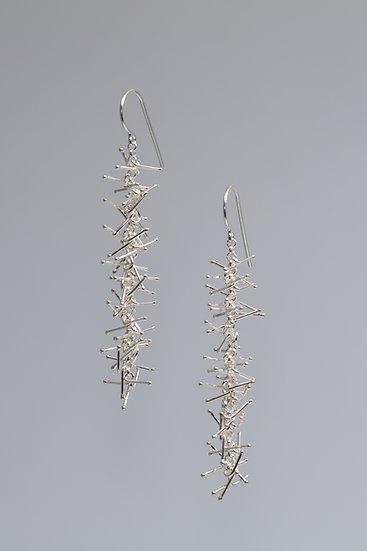 Tinsel Earrings - 6.5cm -shiny