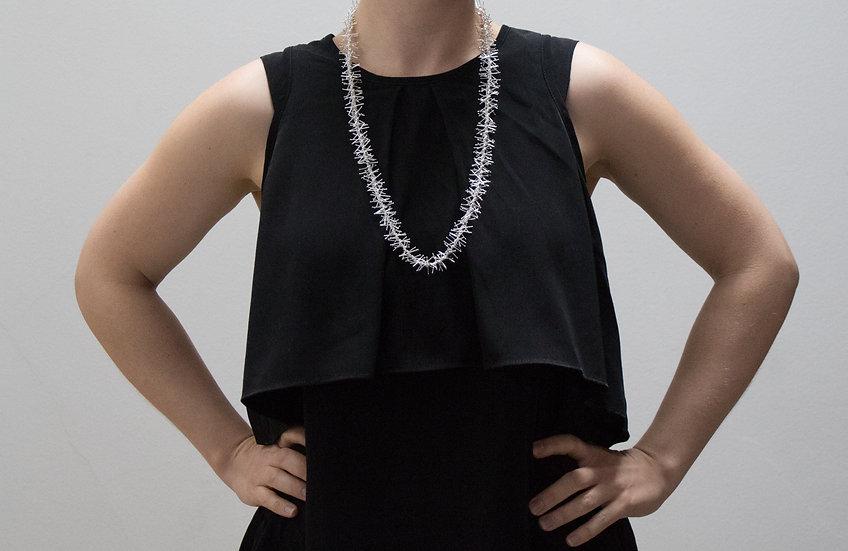 Tinsel necklace - 74cm - shiny