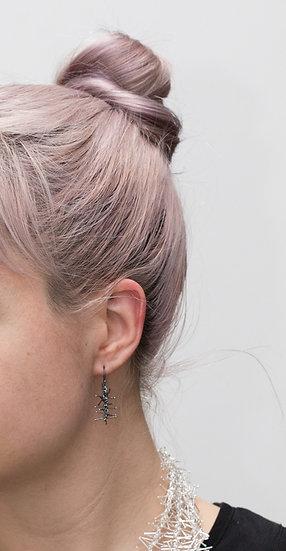 Tinsel Earrings - 3.5cm - oxidised