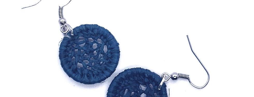Modern rafia earrings - size XS