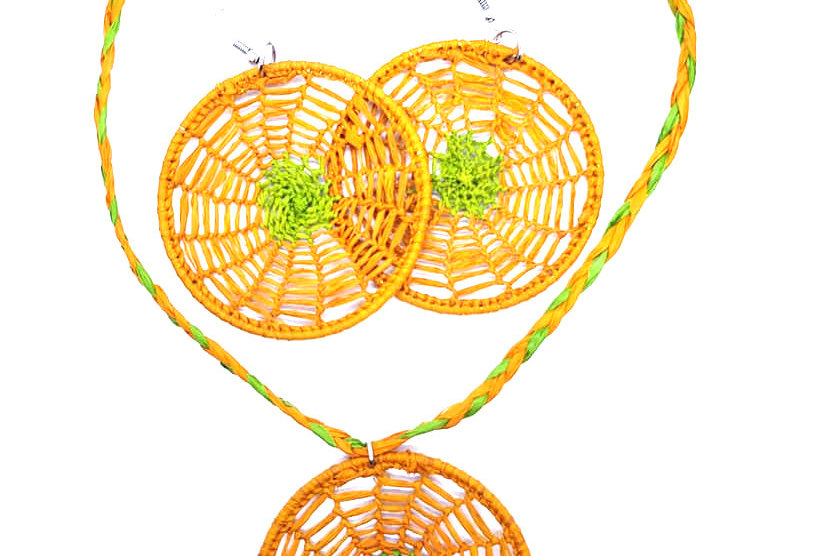 Hope: Rafia necklace & earrings
