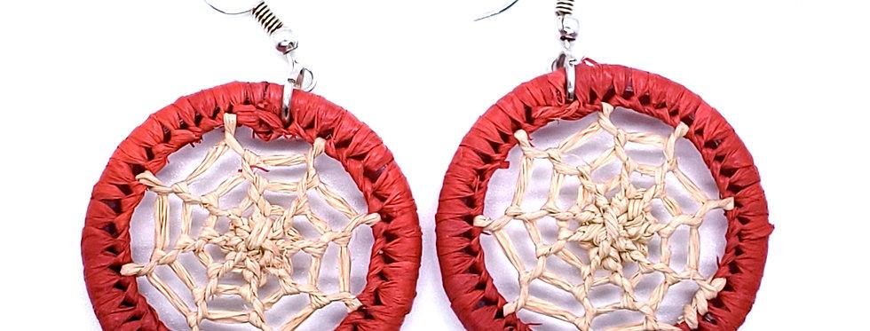 Stylish rafia earrings - size S