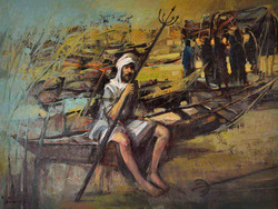 7212-(Fishing)120x90cm,Oil on canvas,202