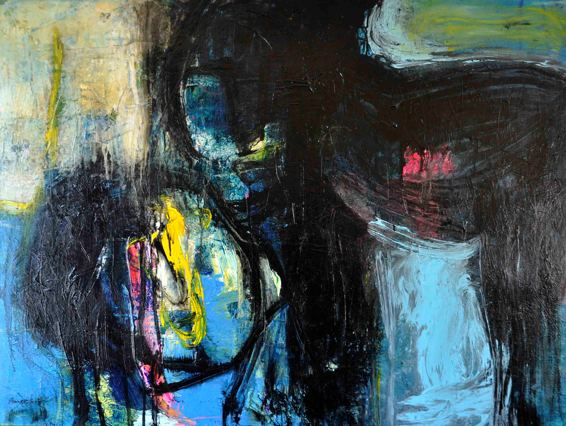 Subjectively  ,   120 x 90 cm  ,  Acrylic on canvas  ,  2018