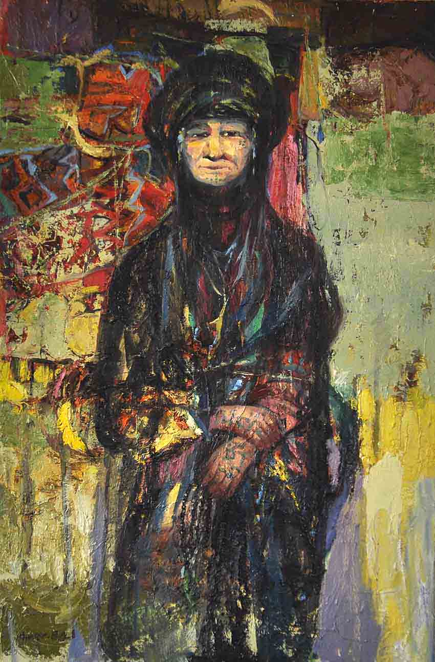 7210-(Fatema) 60x90 cm, Oil on canvas,20