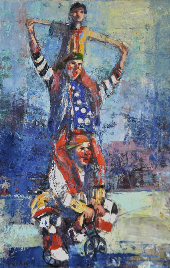 Harlekinos 65 X 100  cm  ,  Oil on canvas  ,  2016