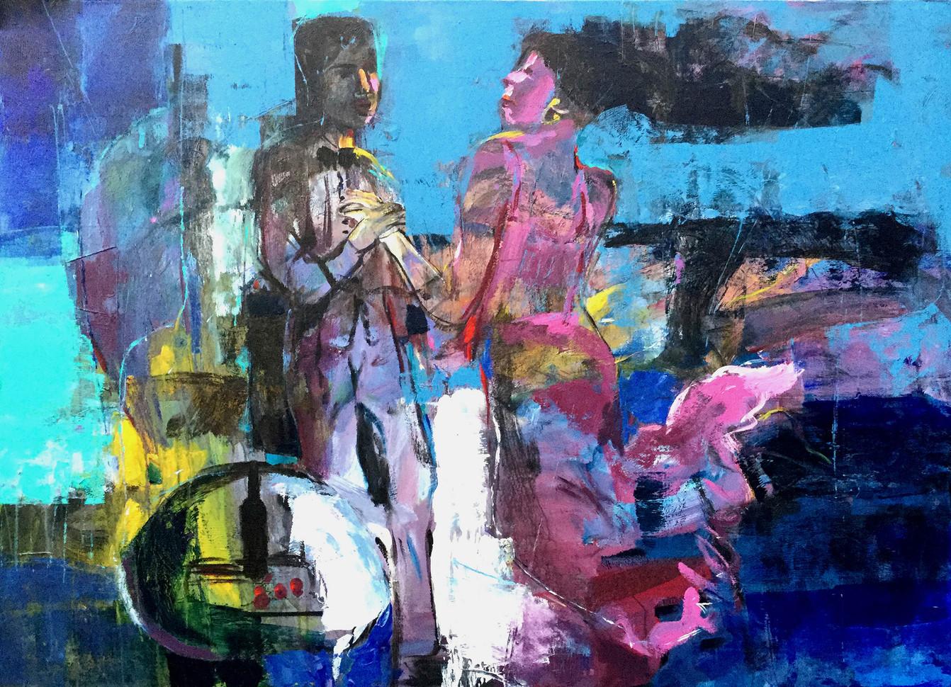 140x100 cm 2017 Acrylic on canvas