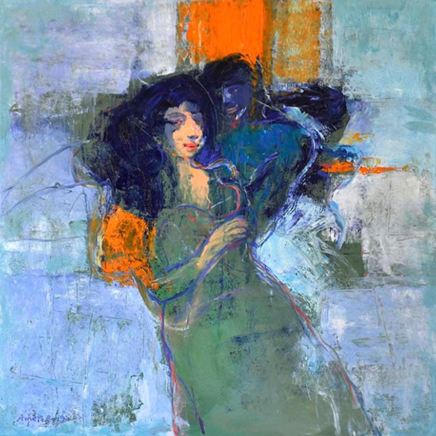 Passion  ,  100 x 100 cm  ,  Oil on canvas  ,   2019