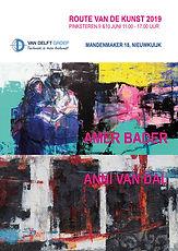 Poster Route van de kunst Van Delft A3 g