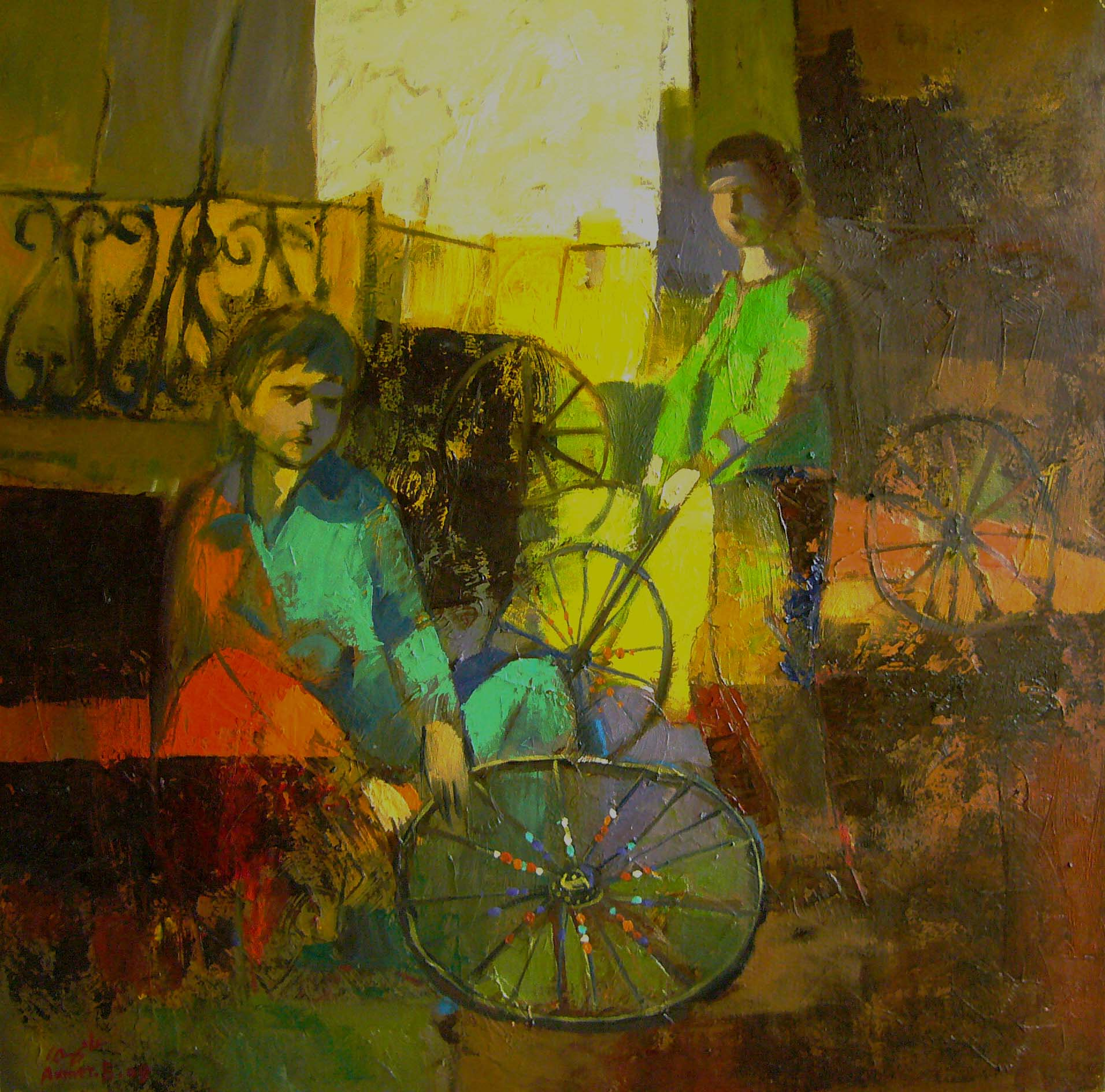 47 - 80x80 cm, Oil on canvas, 2009