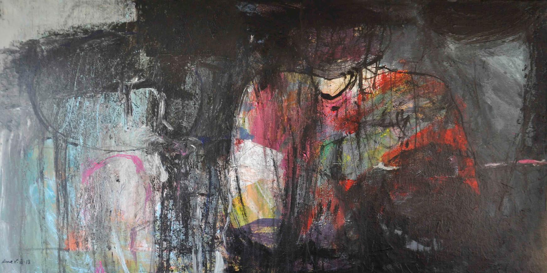 Mysterious , 140 x 70 cm  ,  Acrylic on canvas  ,  2018