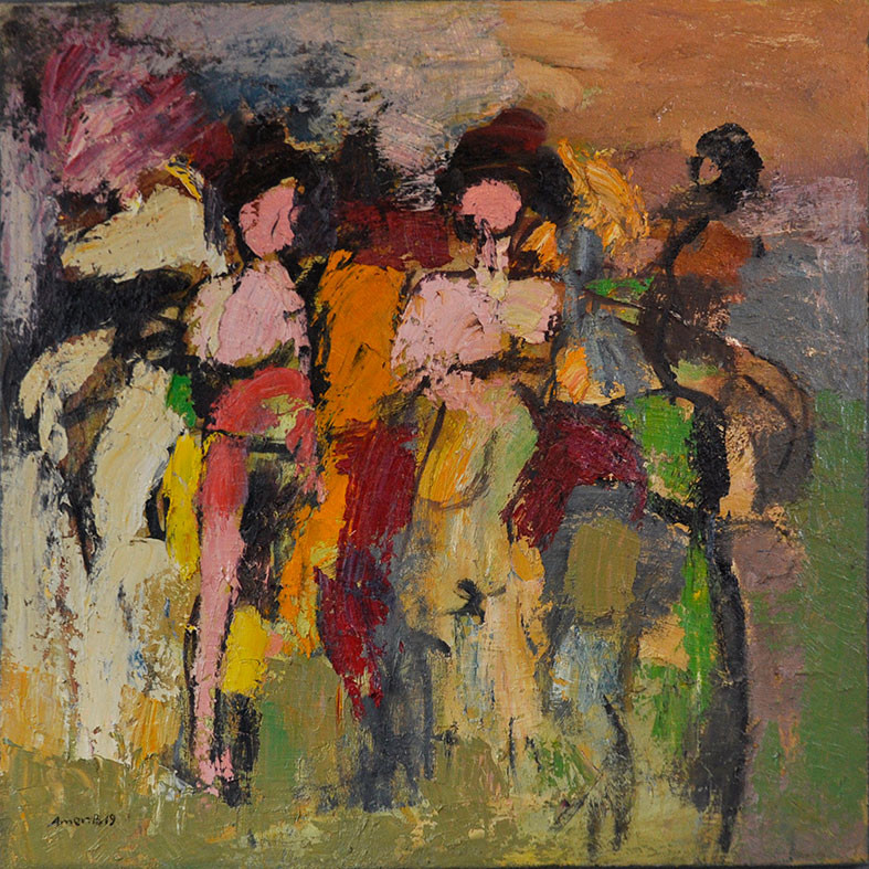 90 x 90 cm  ,  Oil on canvas  ,   2019