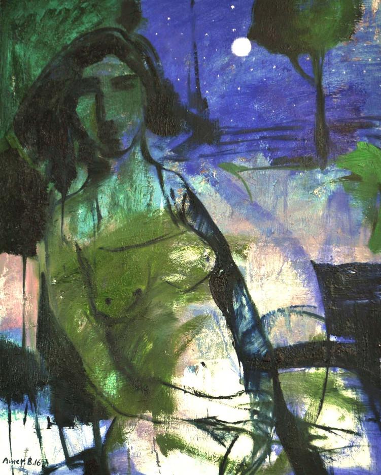 Moonlight 65 X 81  cm  ,  Oil on canvas  ,  2016