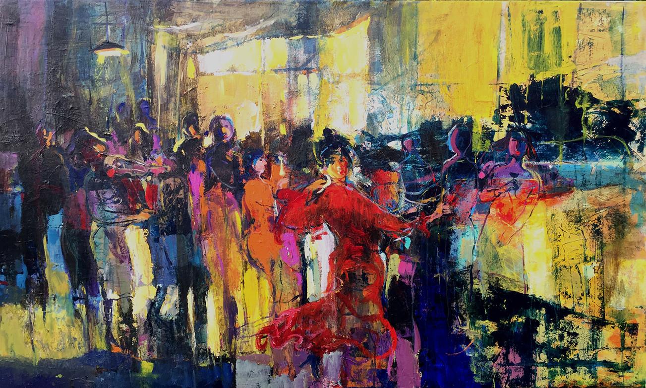 147 x 88 cm  ,  Acrylic on canvas  ,   2017