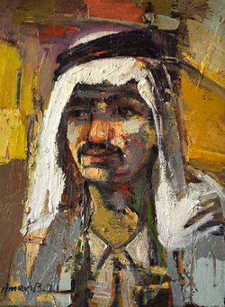 725-3(Marsh man) 30x40cm, Oil on canvas,