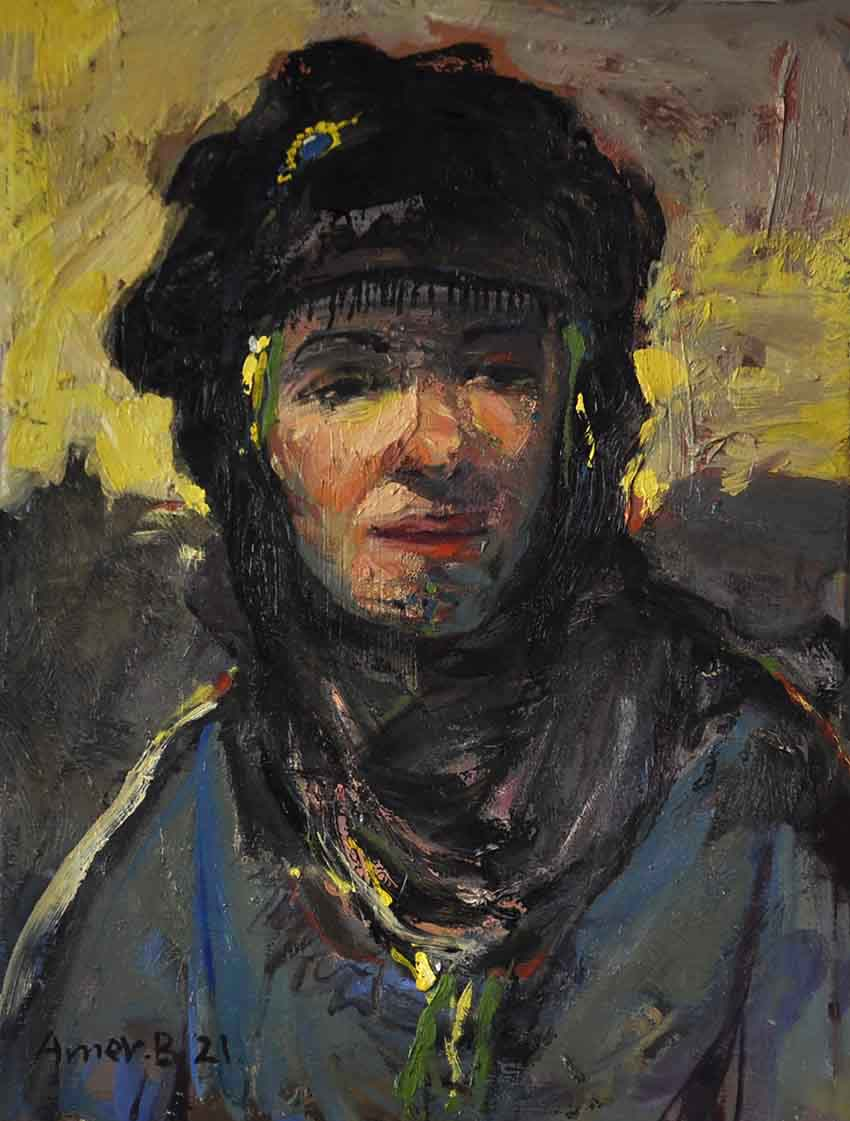 7213-1(Marsh woman) 30x40cm, Oil on canv