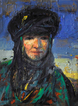 729-1(Marsh woman) 30x40cm, Oil on canva