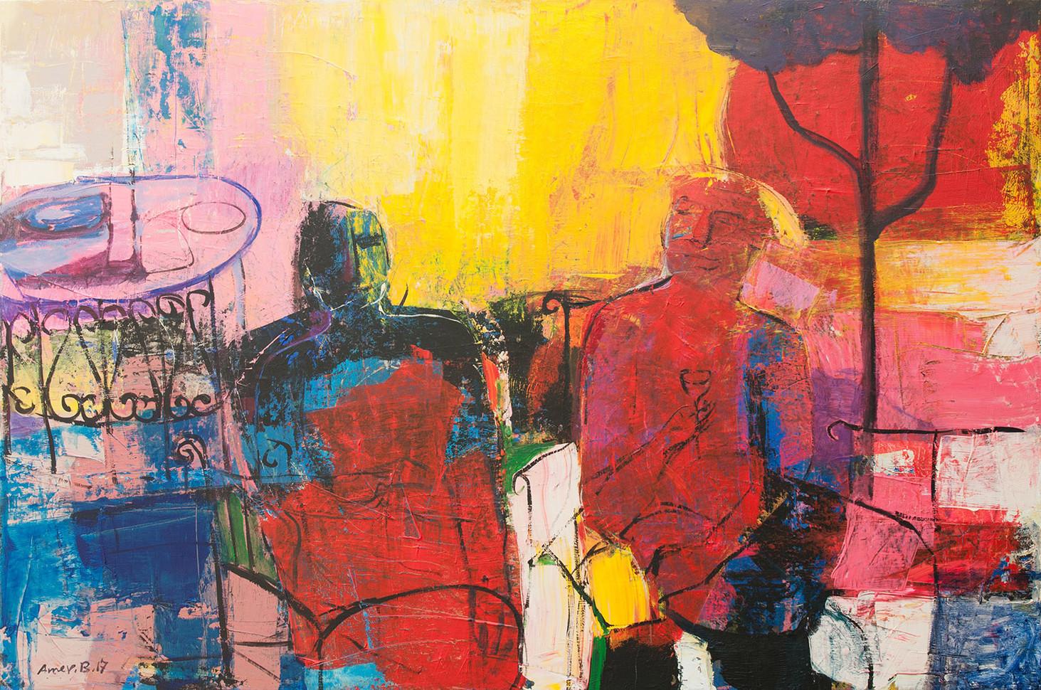 150 x 100  cm  ,  Acrylic on canvas  ,   2017
