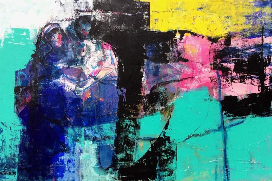 Feelings , 150 x 100 cm  ,  Acrylic on canvas  ,   2017