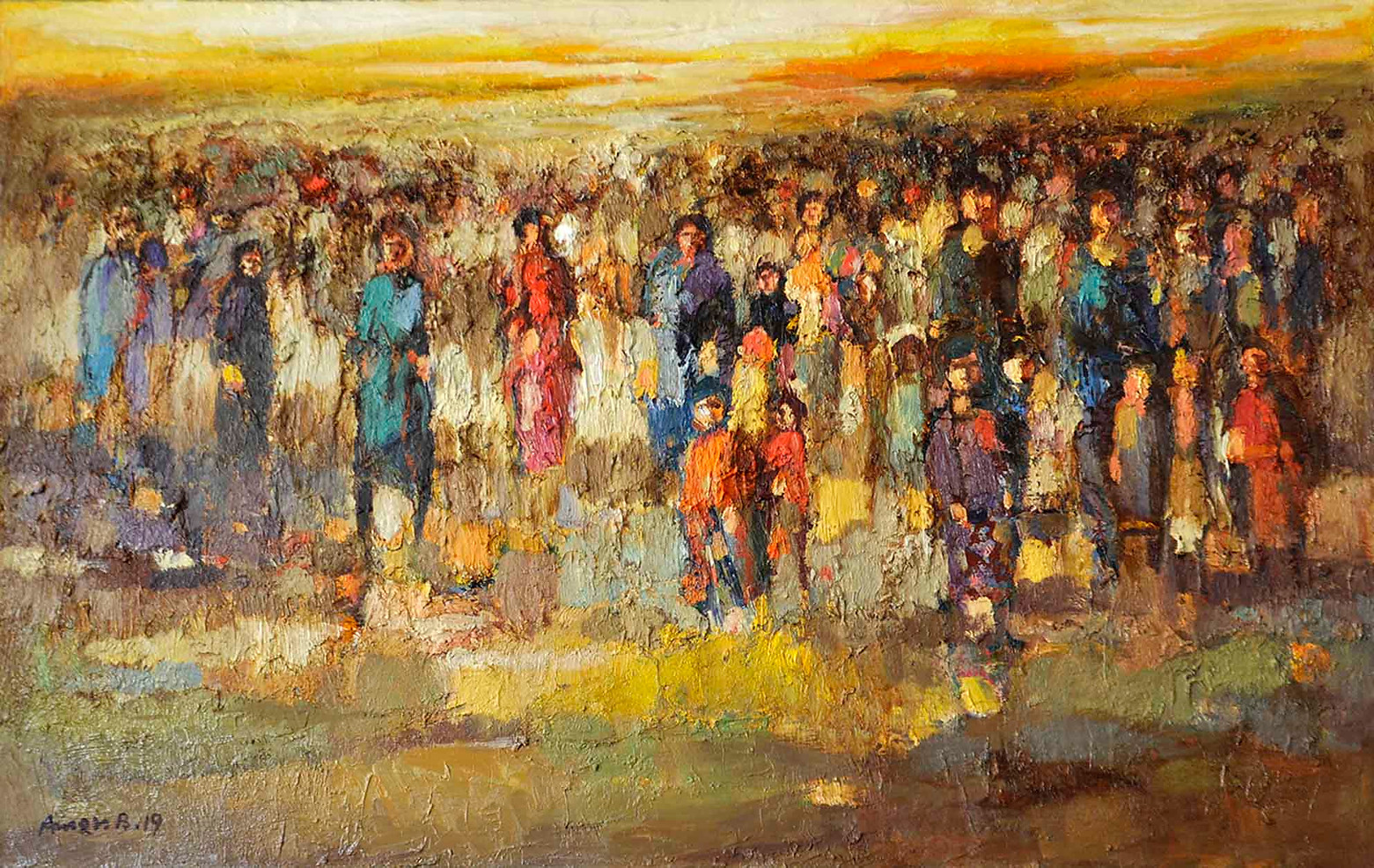110 x 70 cm  ,  Oil on canvas  ,   2019