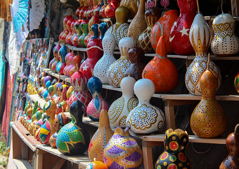 Decorative handmade calabash in the Turk