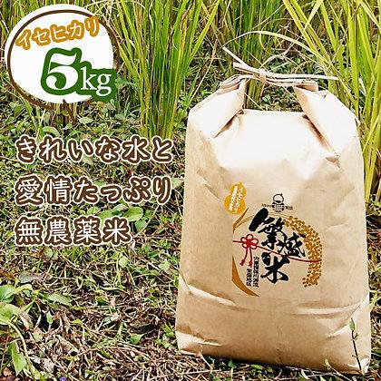 繁盛米(農薬肥料不使用)5キロ