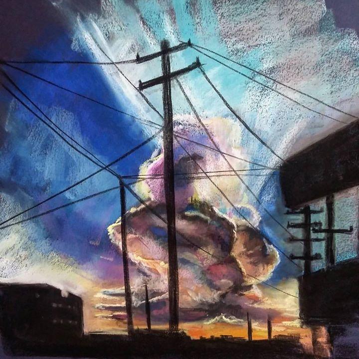 GSO sunset study. Pastel. _._._.jpg