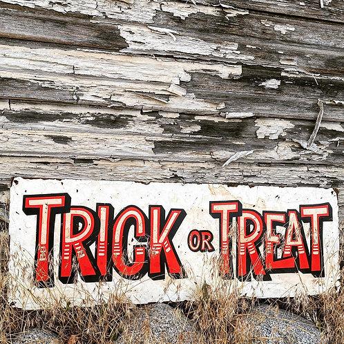 Trick or Treat White Stripes - Horizontal