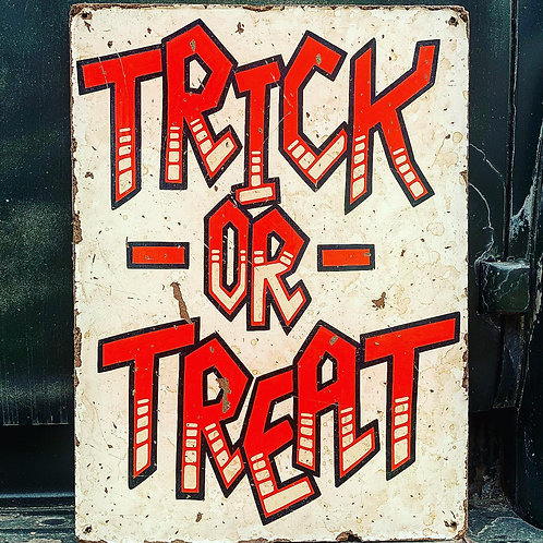 Trick or Treat White Stripes - Vertical