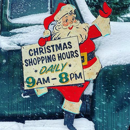 Santa Shopping Hours Display